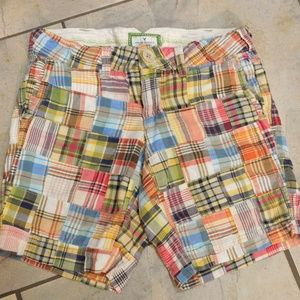 American Eagle Patchwork Cotton Long Shorts 2